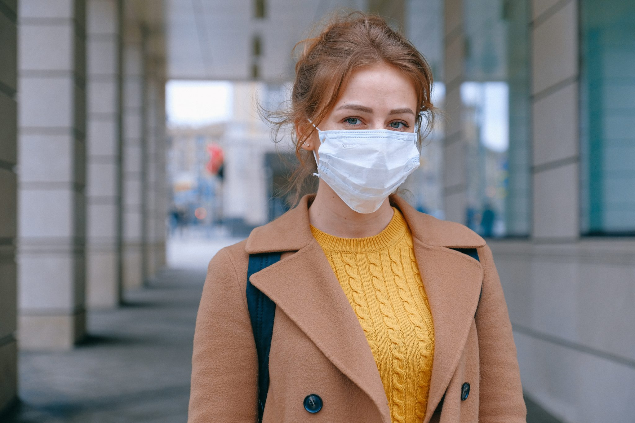 Girl with facemask